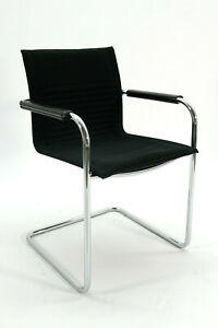 Gebrauchter Art Collection Konferenzstuhl - Stoff schwarz - Freischwinger