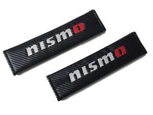 Nismo Black Carbon Fiber Seat Belt Shoulder Pads/Cover 2 Pcs JDM Nissan Infiniti
