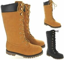 Knee High Boots Wide (C, D, W) Lace Up Shoes for Women