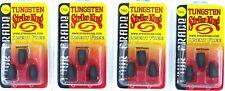 (4) Packs Strike King Tungsten Bullet Weights Tour Grade Insert Free 1/4 Oz MGP