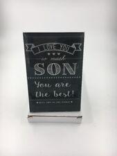 I Love You Son Plaque Glass 8x12cm