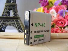 3.7V LI-ION 1230mAh Battery for Casio NP-40 NP40 Exilim PRO EX-P505 P600 P700