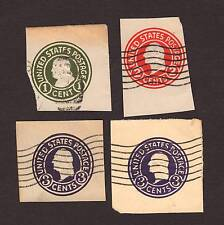 USA 4 used embossed envelope postage stamps Scott U420 U429 U436I, U436II wwg