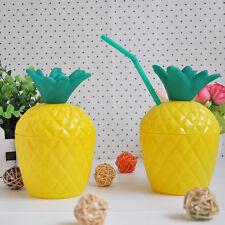Hot Plastic Pineapple DRINK Cups Luau Beach Tropical Party Barware
