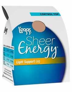 L'eggs Sheer Energy Sheer Toe Pantyhose 4-Pack Light Support Leg Control Top