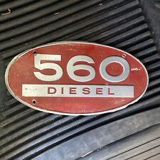 1962 Farmall Ih 560 Diesel Tractor Aluminum Emblem