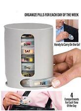 7 Day Weekly Pill Travel Box Tablet Holder Medicine Dispenser Organiser Storage