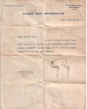 HARRY ROY SIGNED AUTOGRAPH
