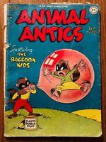 1948 GOLDEN AGE COMIC BOOK DC ANIMAL ANTICS #13 RACCOON KIDS EAGER BEAVER