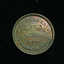 1863 D.L. Wing & CO  Union Flour Civil War Albany New York Token