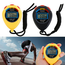 Digital Stop Watch LCD Handheld Professional Chronograph Timer Counter Sports