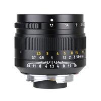 7artisans 50mm f1.1 Manual Lens for Leica M Mount M-M M3 M4 M6 M7 M8 M9 M240 M10