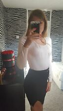 Jacqueline De Young Long Sleeved  bodycon body suit Size S.