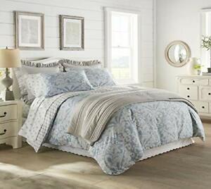 Stone Cottage 100% Cotton Soft Machine Washable Comforter Set King Camden Blue
