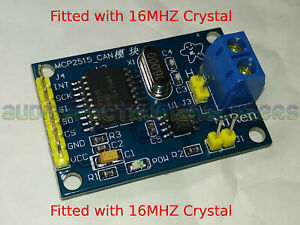 Arduino CAN BUS Transceiver Module Car OBD2 OBDII MCP2515 ** 16MHZ Crystal ** UK