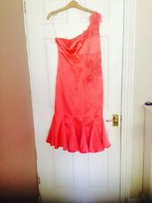 Karen Millen Pink/coral Ladies Dress Size12 RRP £180 BNWT