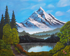 Towering Peaks acrylic painting on canvas Bob Ross style