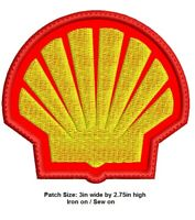 ***LOVE IT OR ITS FREE*** Shell Oil embroidered patch, IRON ON/SEWON, Free ship