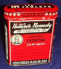 ML159 Vtg Nature's Remedy Laxative Tin Can