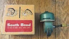 Vintage Green Metal South Bend Spin Cast 77 Fishing Reel with Original Box
