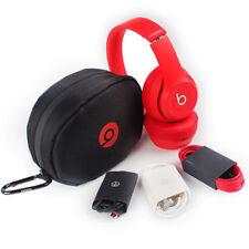 SOLO HD 2.0 DR DRE BEATS WIRELESS RED ON EAR HEADPHONES REFURBISHED