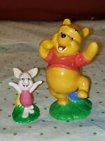 "Disney Winnie The Pooh 4"" And Piglet 2"" Ceramic Figurine Set Of 2 Disney China"