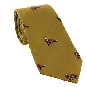 Michelsons of London Fox Silk Tie