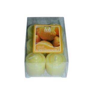 12 Votive Wax Colour Party Candles (2 Packs of 6) Yellow
