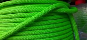 """1/2 """" x 100 ft. Double Braid-Yacht Braid Polyester Rope.Lime. Made in USA"""