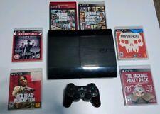 PS3 250GB Super Slim Controller 6 Games