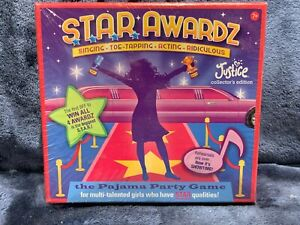 Star Awardz Pajama Party Card Game, Justice Collector's Edition Brand NEW Sealed