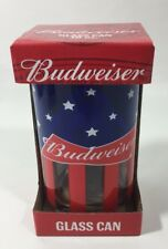 Budweiser Glass Can 10oz Red New In The Box