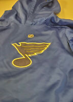 St. Louis Blues Hoodie Sweatshirt Hooded Youth Medium 10/12 Navy NHL EUC