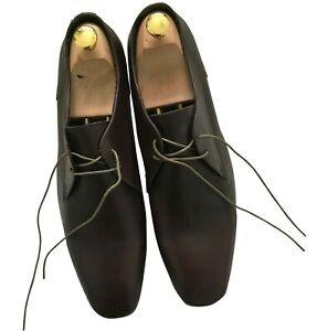 "Paul Smith Men Shoes ""PS"" Brown Lace Up Shoes Size 10 / 44"