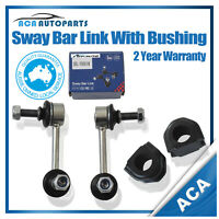 POLYPRO FRONT Pair 2 SWAY BAR LINK + D BUSHES for FORD FALCON AU2 BA BF FPV
