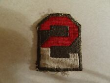 GENUINE US MILITARY PATCH COLORED FOR SHOULDER 2ND US ARMY WW2 ERA NO GLOW