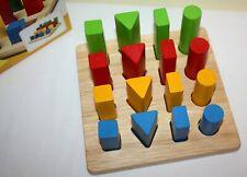 Plan Toys Geometric Peg Board VGC