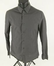 H&M Dress Shirt Long Sleeve Button Front Youth Boys Size S15 Gray Cotton