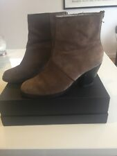 Witchery Tan Suede Leather Ankle Boots Size 39