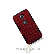 Nexus 6 Hybrid Mesh Case Red Case Cover Shell