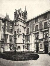 MAINE- ET- LOIRE. Angers. Le Logis Barrault 1900 old antique print picture