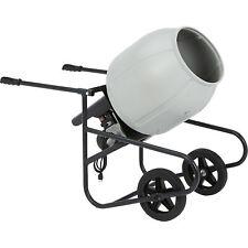 Klutch Portable Electric Cement Mixer 2 Cubic Ft Poly Drum