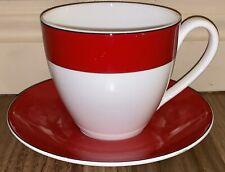 Kate Spade ~ Lenox ~ Rutherford Circle Red ~ Tea Cup & Saucer