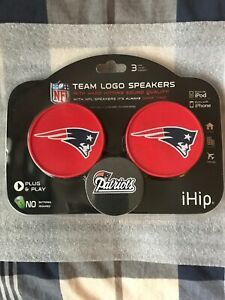 New England Patriots Ihip Team Logo Speakers iPod iPhone Home