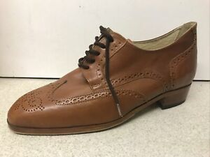 Men's Mario Bertulli Elevator Tan Brogues Shoes UK 9 - EUR 43 NEW UNUSED