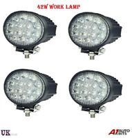 4X 42W 10-30V 14 LED WORK SPOT BEAM LAMPS NEW HOLLAND MASSEY FERGUSON JCB BOBCAT