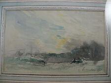 Etude, dessin aquarellé d'Henri Foreau (1866 - 1838).