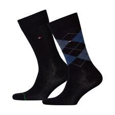6 Paar Tommy Hilfiger Herren Socken Strümpfe 39-42 Check dunkelblau