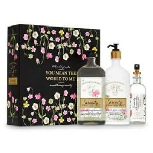 Bath Body Works AROMATHERAPY SERENITY 3 Pc Boxed Gift Set Lotion Gel Pillow Mist