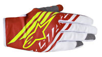 Alpinestars Supermatic Gloves Red/Fluo Yellow/White Motocross Mx Off Road